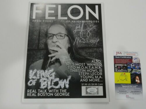 GEORGE JUNG SIGNED FELON MAGAZINE FULL BOSTON GEORGE AUTOGRAPHED RARE JSA COA