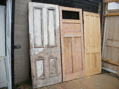 Reclaimed Victorian and Edwardian doors. For projects or panels.