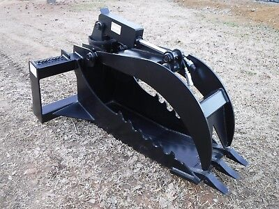 Bobcat Skid Steer Extreme Duty Stump Bucket Grapple Attachment - Ship 149