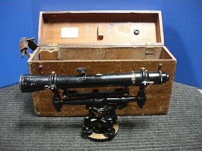 W L.e. Gurley 652014 Vintage Land Survey Transit Level With Wooden Case