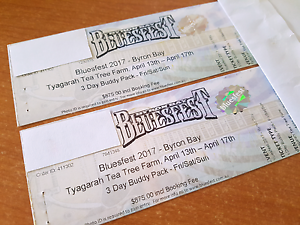 Bluesfest Tickets (Including Camping) CHEAP Morayfield Caboolture Area Preview