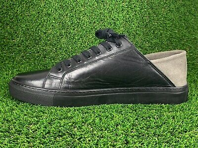 Armando Cabral Soft Leather Low Top Sneakers Black Sz US 10 / EU 43
