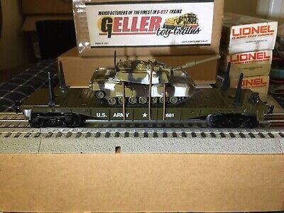 GELLER-MTSI- 2681/ MTW  U. S.  ARMY FLAT CAR with TANK.  NIB.