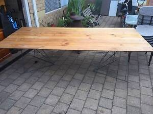 Large Timber Top Trestle Table Beckenham Gosnells Area Preview