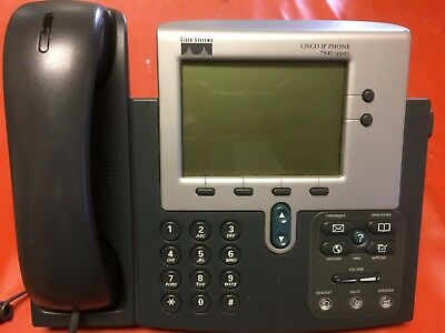 Lot Of 3 Cisco Cp-7940g 7940 Voipip Phones Whandsets And Cords