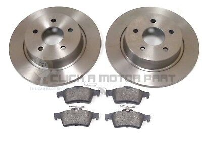 FORD TRANSIT CONNECT 2013-2017 REAR 2 BRAKE DISCS AND PADS SET NEW (280MM)