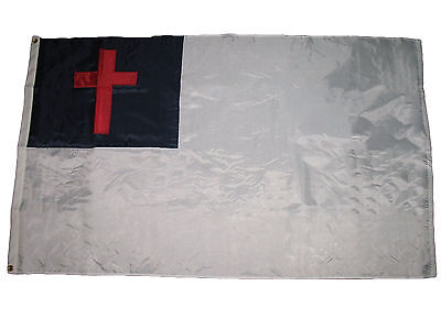 3x5 Embroidered Christian Christ Cross 200D Sewn Nylon Flag 3'x5' Made in USA