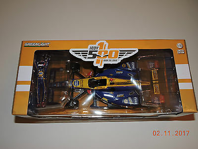 Greenlight 1 18 2016 Indy 500 Alexander Rossi Winner With Figurine Only 500 Made
