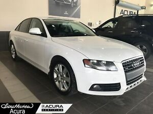 2009 Audi A4 2.0T, AWD, Power Moonroof, Leather Interior