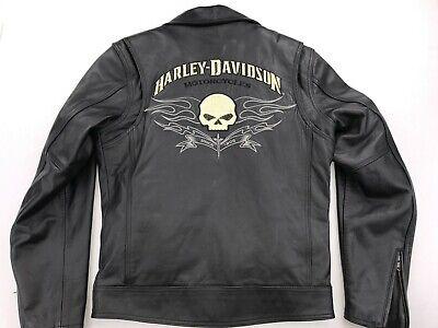 HARLEY DAVIDSON DESIGNATOR WILLIE G SKULL MEN'S LEATHER JACKET SMALL 97078-09VM