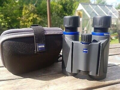 ZEISS 8x25 Terra ED Compact Binocular Grey Black pocket binoculars made in Japan
