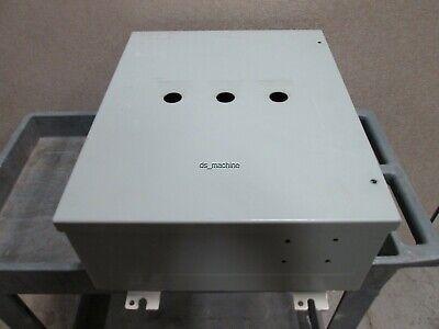 Hammond 1418jc7 Metal Enclosure 20 X 16 X 7 3-top Panel Holes See Details