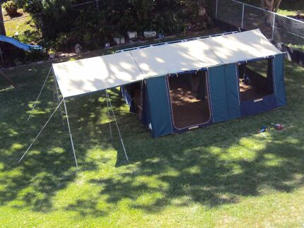 Hacienda - Great Outdoors - Canvas Tent - 2 Rooms & Tent - Canvas | Camping u0026 Hiking | Gumtree Australia Pine Rivers ...