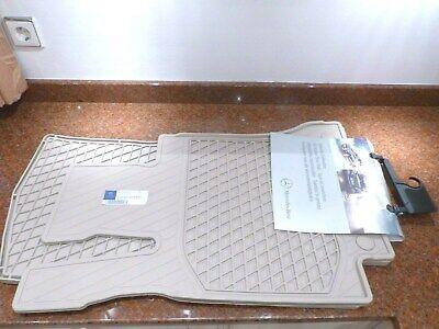 Original Fussmatten Gummi Mercedes C-Klasse Gummimatten W205 S205 C205 beige