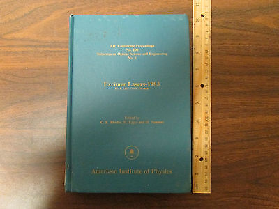 Excimer Lasers 1983 Aip Conference Proceedings No. 100 Hardcover
