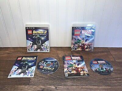 PS3 LEGO Batman 3: Beyond Gotham & LEGO Marvel Super Heroes PlayStation 3 EUC