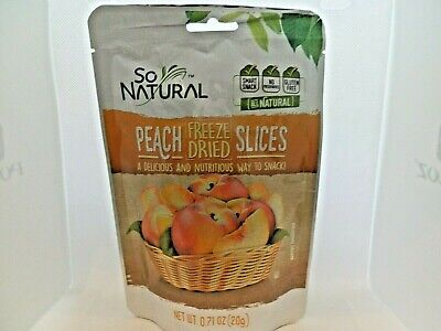 So Natural Freeze Dried Peach Slices 0.71oz(20g) Lot of 4 Bags EXP 02/21 Freeze Dried Peaches