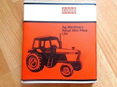 Htf Case All Tractors Uni-loaders Equip. Price List Guide From Dealership 1984