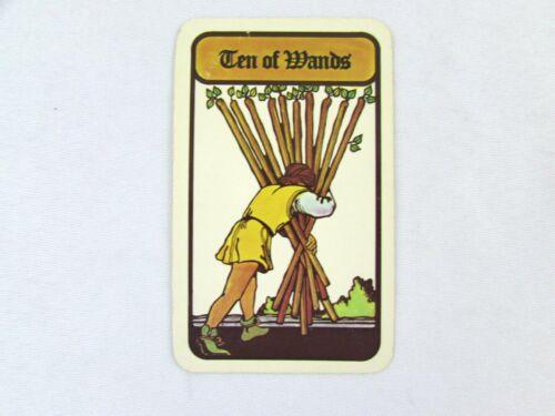 Vintage 1972 Hoi Polloi Tarot *Single Replacement Card* Ten of Wands