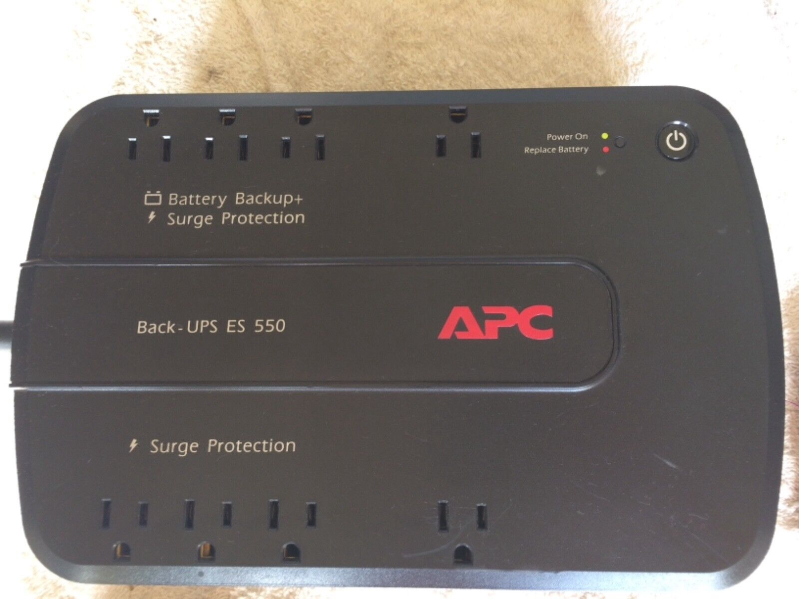 APC Back-UPS ES 550 BE550G , 8 Outlet Battery Backup+ Battery Surge Protection