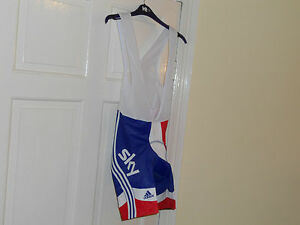 ADIDAS-Team-GB-SKY-Rider-Issue-cycling-bike-bib-shorts-Great-Britain