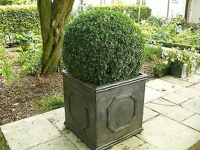 Planter Garden Large Plant Pot 65cm Chelsea Cube Lead Effect Outdoor Decorative