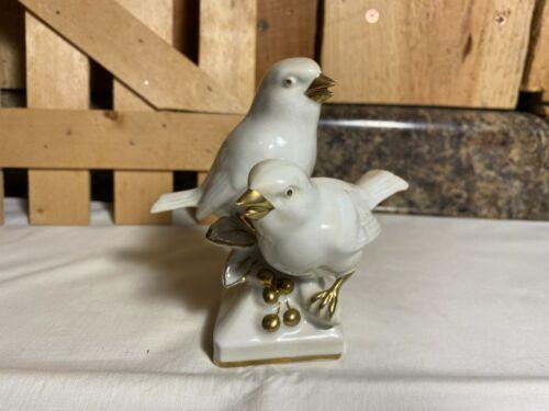 Vintage Ebeling & Ruess Erphila Porcelain Chickadee Birds #5141~ Germany US Zone