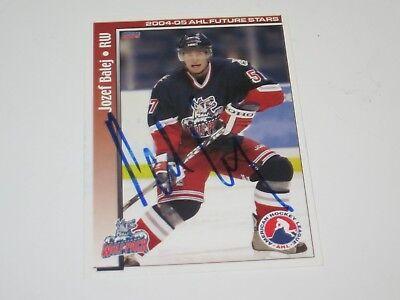 JOZEF BALEJ AUTOGRAPHED SIGNED 2005 CHOICE AHL FUTURE STARS CARD-MONARCHS segunda mano  Embacar hacia Argentina