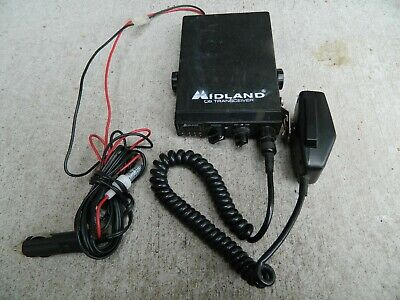 Midland CB Radio Transceiver Model 77-104 Power Cable Microphone 12V operation