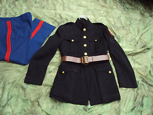 wwii usmc marine officer dress blue coat