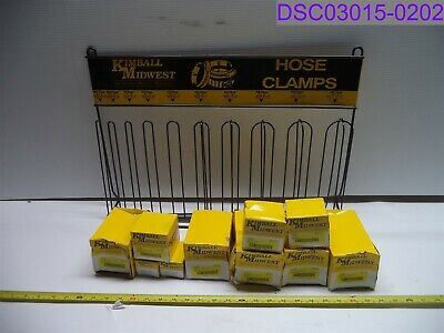 Bent Display Kimball Hose Clamp Assortment 4-36 Pn 40516