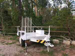 Machinery trailer bobcat excavator tractor mower Rochedale Brisbane South East Preview