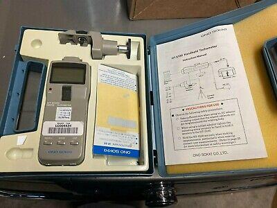 Ono Sokki Ht5100 Handheld Digital Contact Opitcal Tachometer