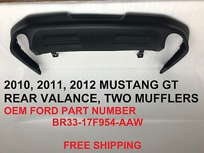 2010 2011 2012 mustang gt 5.0 rear bumper lower valance br3317f954aaw ()