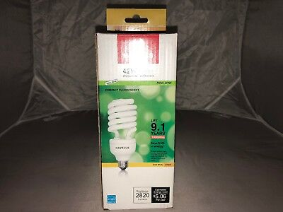Box Of 5 New Havells 42W=150W Light Bulb Compact Fluorescent Soft White 2700K 150w Compact Fluorescent Bulb
