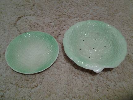 Royal Winton china plate and strainer set