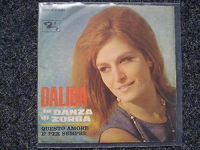 Dalida - La danza di Zorba 7'' Single SUNG IN ITALIAN