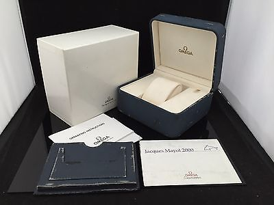 OMEGA SEAMASTER JACK MAYOL 2000 WATCH BOX CASE GENEVE SUISSE 100%Authentic fn529