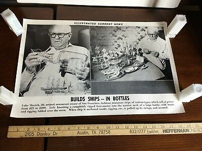 Illustrated Current News Photo - Ships in Bottles Luke Slavich Miniature Types