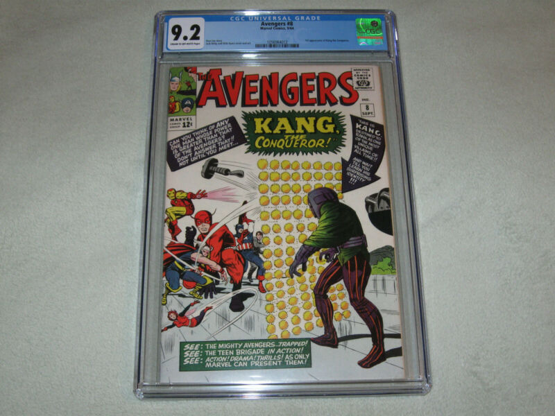 Avengers #8 CGC 9.2 1st Appearance of Kang the Conqueror!
