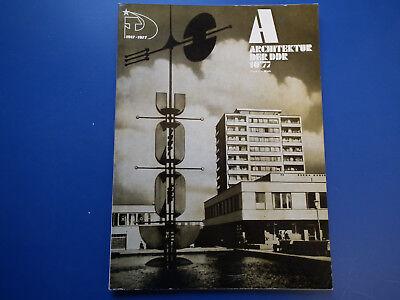 DDR Zeitschrift-Architektur der DDR Heft -10/1977-Moskau-UDSSR-Maxim Gorki Tula