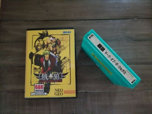 Garou Mark of the Wolves Neo Geo MVS SNK Authentic with Shockbox