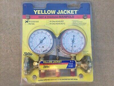 Yellow Jacket 41212 Refrigerant Manifold Gauges R1222502 Freon