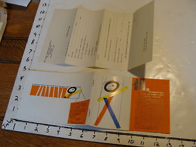 Vintage MARIONETTE Paper: INTERNATIONAL FESTIVAL OF PUPPET MARIONETTE THEATERES