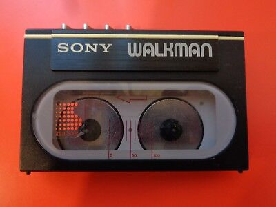SONY WM-20 Cassette Player Walkman, Black! From Personal Collection