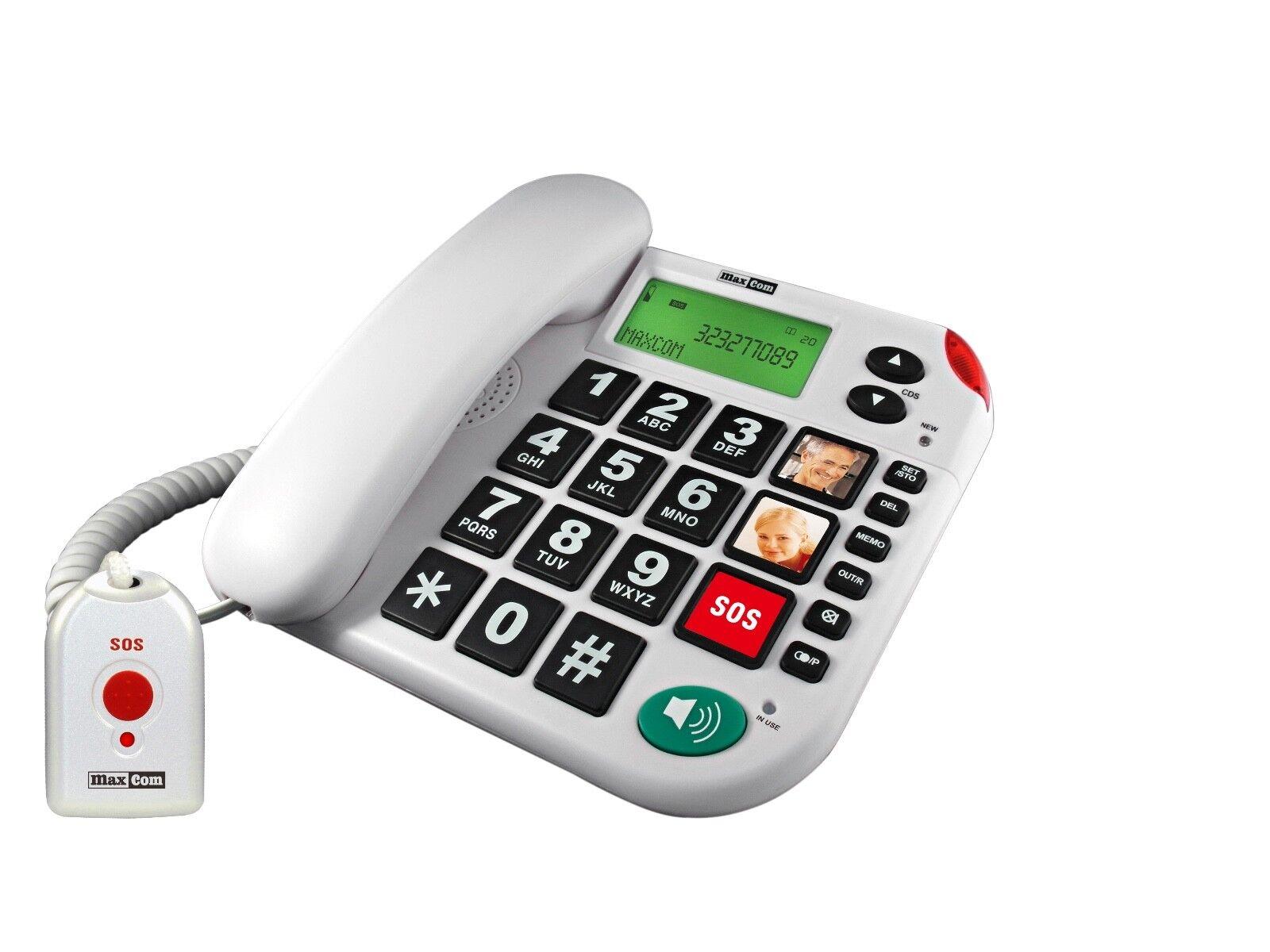 Senioren-Notruf-Telefon mit Notrufknopf Großtastentelefon Seniorentelefon Notruf