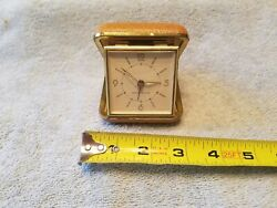 Vintage Westclox Wind-Up Folding Travel Alarm Clock Made in Germany