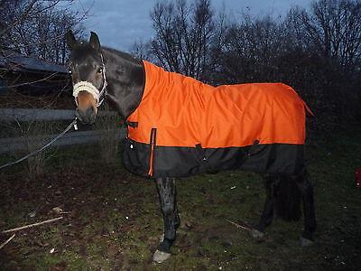*1200 D. OUTDOORDECKE+HIGHNECK 60 gramm Füllung 135 cm Orange-Schwarz