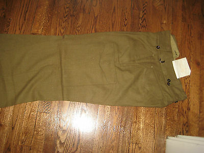 "WOOL,CARGO PANT,NEW OLD STOCK, 1953,AUSTRAILIAN, 31-36,5ft 11""-6 feet inseam"