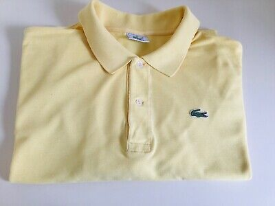 Men's Lacoste polo top size 10 5 XL yellow